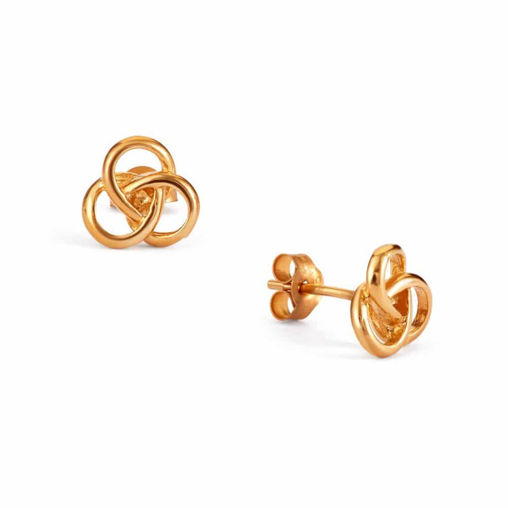 Yellow Gold Filigree Stud Earrings