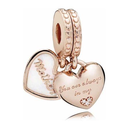 Pandora Mother & Daughter Hearts Dangle Charm