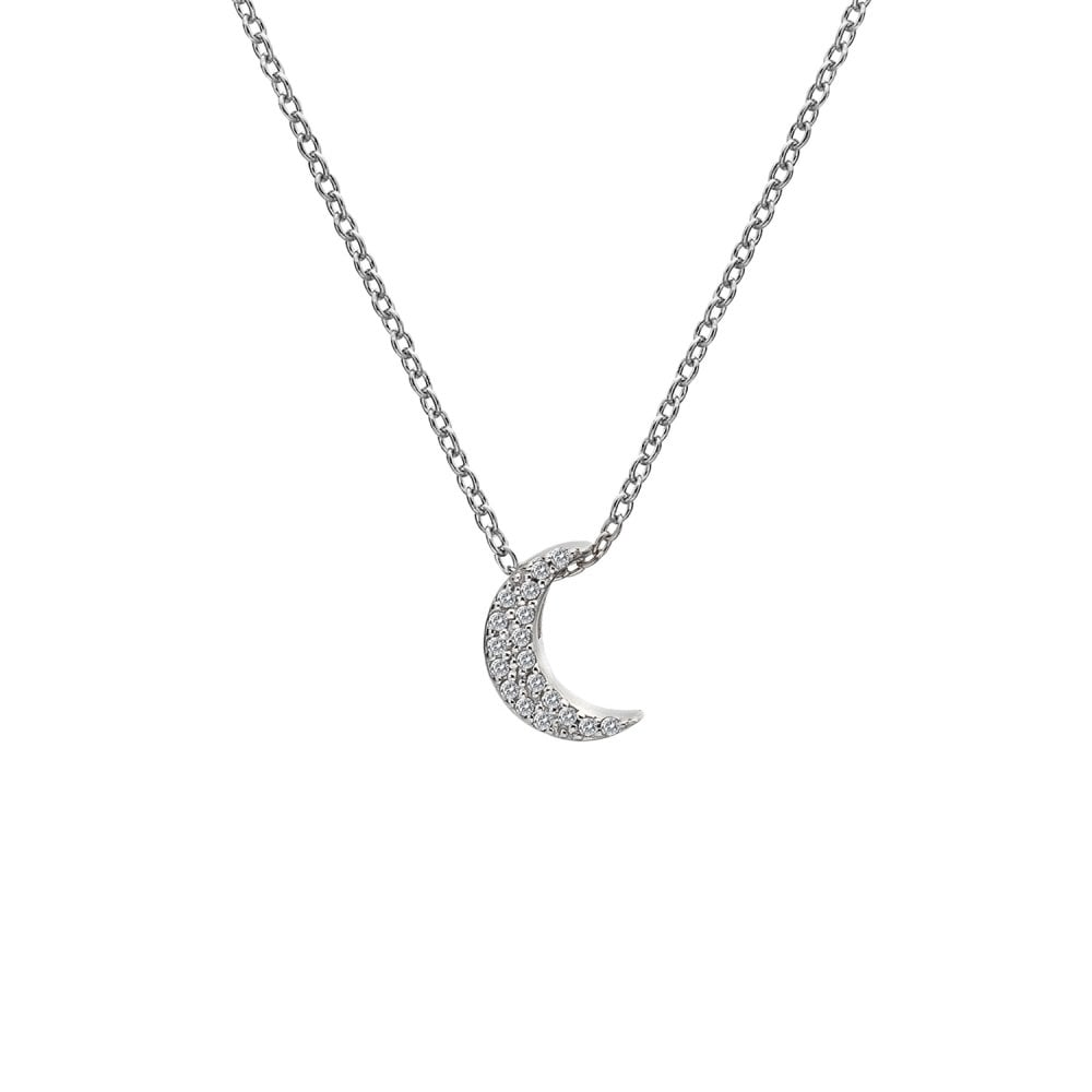 Hot Diamonds Striking Crescent Pendant